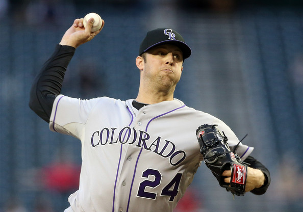 Fittingly, Jordan Lyles wears Fowler's old number: 24 (Getty Images)